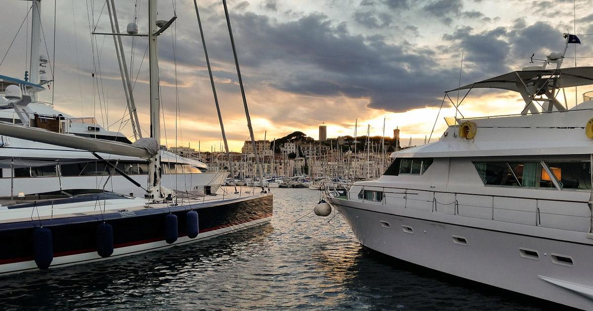 Cannes et ses yachts