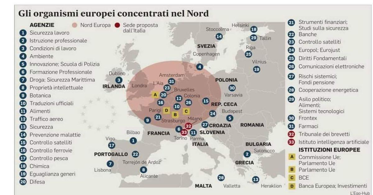 Cartes des organismes européens