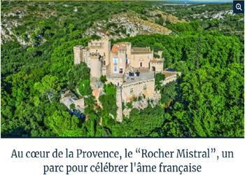 """Le Rocher Mistral célèbrera """"l'âme française"""" ? Vraiment ?"""
